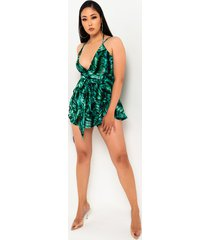 akira stop and relax deep v romper