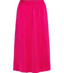 srcamille midi skirt knälång kjol rosa soft rebels