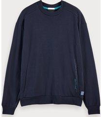 scotch & soda lichte sweater met lange mouwen en zakken