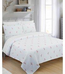 flamingo full/queen coverlet bedding