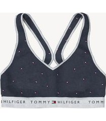 tommy hilfiger women's essential flag bralette navy mini flag - s