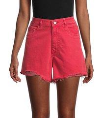 cleo high-rise distressed denim shorts