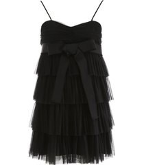 red valentino layered tulle mini skirt