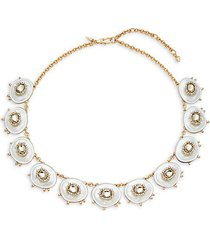 10k goldplated, lucite & crystal statement necklace
