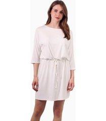 vestido mila corto de algodón blanco jacinta tienda