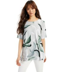 alfani printed scoop-neck swing top, created for macy's