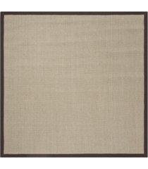 safavieh natural fiber sage and brown 6' x 6' sisal weave square area rug