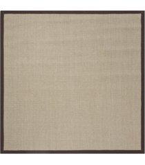 safavieh natural fiber sage and brown 6' x 6' sisal weave square rug