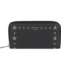 black leather carnaby travel wallet