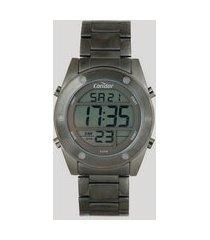 relógio digital condor masculino - cobj3463ae4c grafite