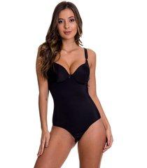 body modelador estilo sedutor pã³s-parto com bojo preto - tv4062 - preto - feminino - dafiti