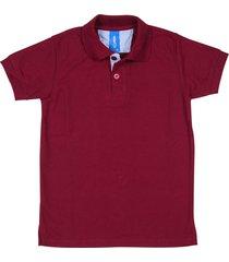 camiseta tipo polo vinotinto hamer