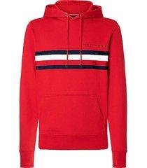 hoodie logo rood