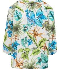 blouse met 3/4-mouwen en ronde hals van betty barclay multicolour
