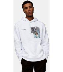 mens white peacock hoodie