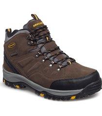 mens relment - pelmo - waterproof shoes boots winter boots brun skechers