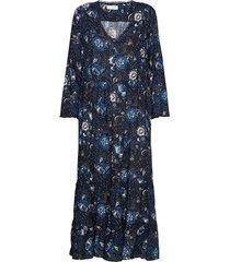 doreen dress knälång klänning blå odd molly