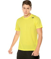 camiseta amarillo adidas performance fl_spr z ft 3st shoyerl
