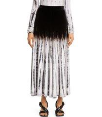 women's proenza schouler tie dye velvet midi skirt, size x-large - ivory
