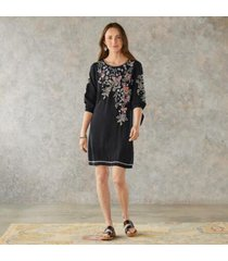 sundance catalog women's arva dress in black xl