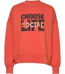 patti sweatshirt sweat-shirt tröja röd wood wood