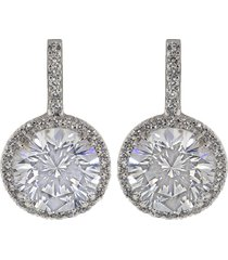 pave solitaire drop earrings