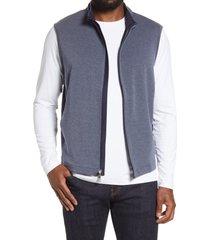 men's peter millar natural touch vest, size medium - blue