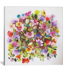 "icanvas ""beach peas"" by kim parker gallery-wrapped canvas print - 12"" x 12"" x 0.75"""