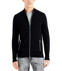 inc international concepts men's howie full-zip sweater, created for macy's