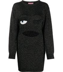 chiara ferragni flirting jumper dress - black