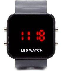 reloj digital negro color negro, talla uni