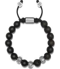 nialaya jewelry lava beaded bracelet - black