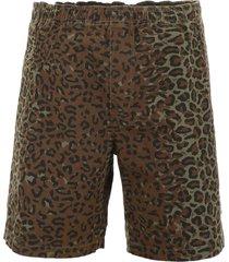 stussy leopard-printed shorts