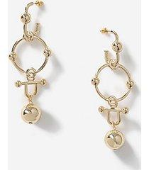 *ball link drop earrings - gold