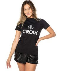 camiseta basic croix preta - preto - feminino - dafiti