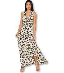 ax paris animal print asymmetrical frill dress