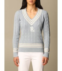 lauren ralph lauren sweater lauren ralph lauren v-neck pullover in cable-knit cotton