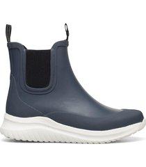 short rubber boots regnstövlar skor blå ilse jacobsen