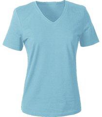 v-shirt voor haar, blauw 40