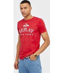 replay m3033 t-shirt t-shirts & linnen red