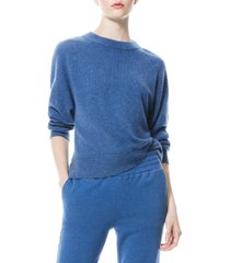 women's alice + olivia denver cashmere sweater, size x-small - blue