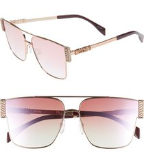 moschino 60mm polarized aviator sunglasses in gold copper at nordstrom