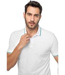 camisa polo forum reta frisos branca - branco - masculino - algodã£o - dafiti