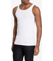 bread & boxers ribbed tank top t-shirts & linnen vit