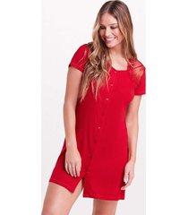 camisola joge camisola curta malha monterey vermelho - vermelho - feminino - dafiti