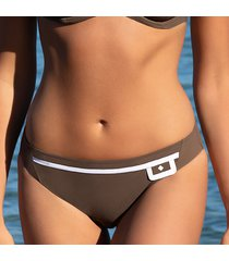 lise charmel badmode elegance couture bikini slip taupe aba0434