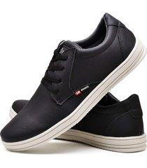 sapatãªnis sapato casual cr shoes com cadarã§o 1510m preto. - preto - masculino - couro sintã©tico - dafiti
