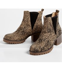 maurices womens adrianne leopard ankle bootie brown