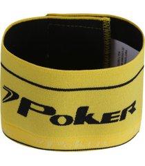 braçadeira de capitão elástica poker - amarelo