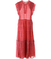 ulla johnson linnea dress hibiscus